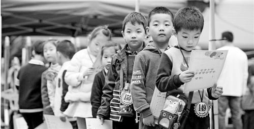 杭城约万名伢儿赶考民办小学 录取比例超20:1