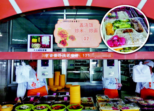 """山科大青岛校区""""减脂套餐""""走红 售价仅8-10元"""