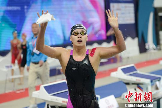全国游泳冠军赛:傅园慧夺首冠 孙杨收获第三金