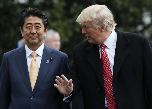 安倍今赴美会晤特朗普 拟建新框架劝美国重返TPP