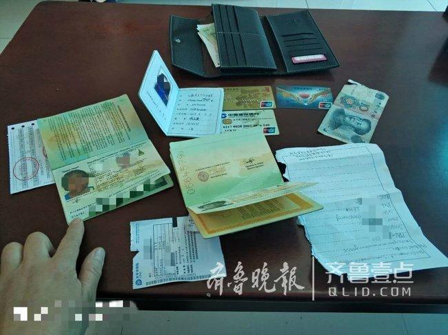 留学生济南公交车上丢了钱包,车队工作人员帮送还