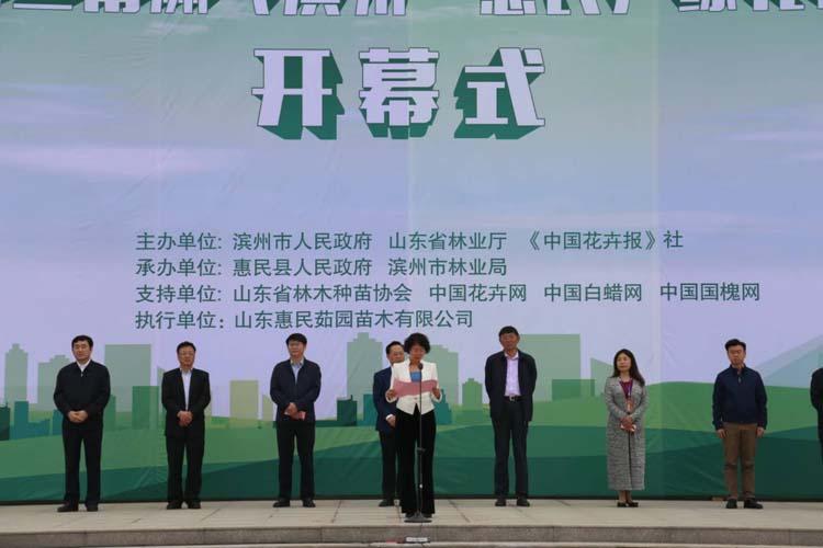 惠民第七届黄三角苗博会开幕 苗木年产值突破20亿