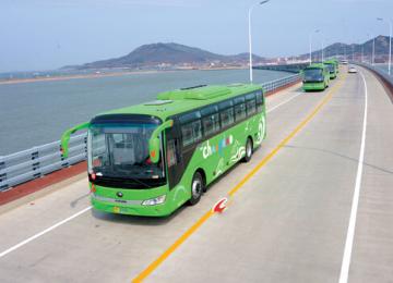 长岛50辆纯电动旅游公交车投入运营