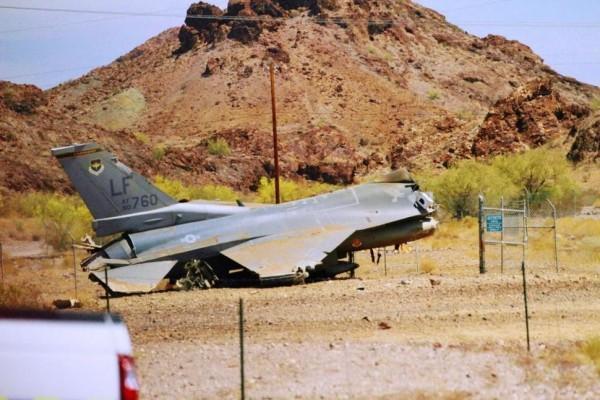 美军一架F-16战机坠毁 飞行员弹射逃生