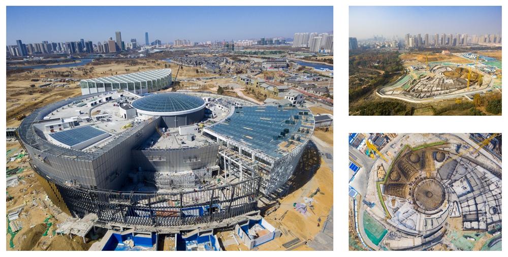 滨州博兴,新年第一天,南水北调工程博兴段,一幅黄蓝交响优美画卷在鲁中大地铺开。