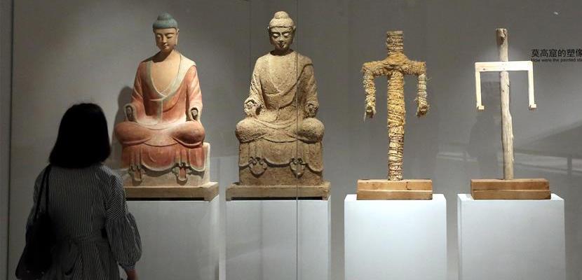 """""""丝路敦煌""""文化艺术展在上海开展"""