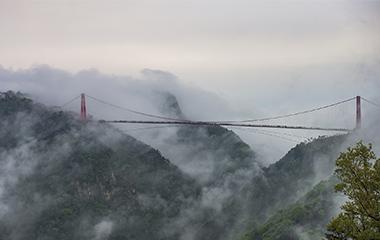 看云海不必去黄山!雨后蒙山云雾缭绕宛如水墨画