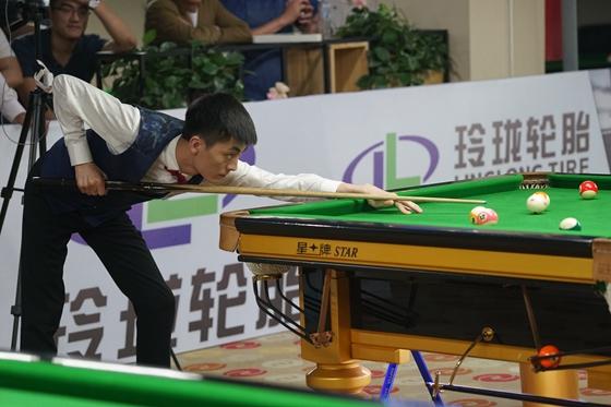 山东省中式台球锦标赛收杆,申重阳击败刘鑫夺冠