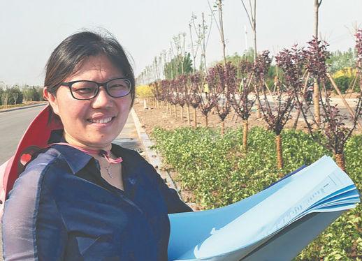 淄博城市美容师杨敏菊 泥土为伴 工程一线就是家