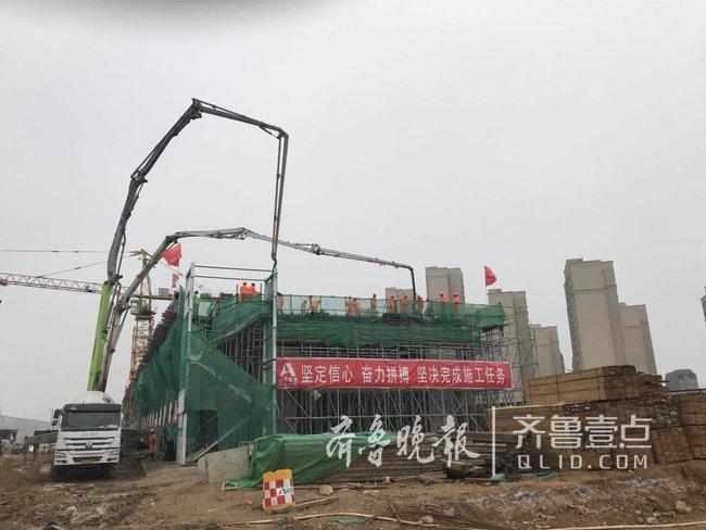济青高速改扩建工程华山高架桥首件现浇箱梁顺利浇筑