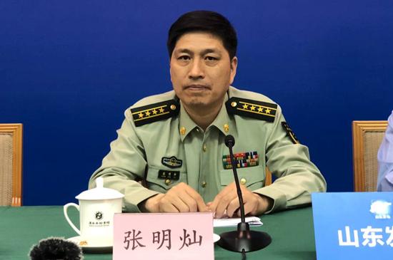 山东省公安厅消防总队总队长 张明灿