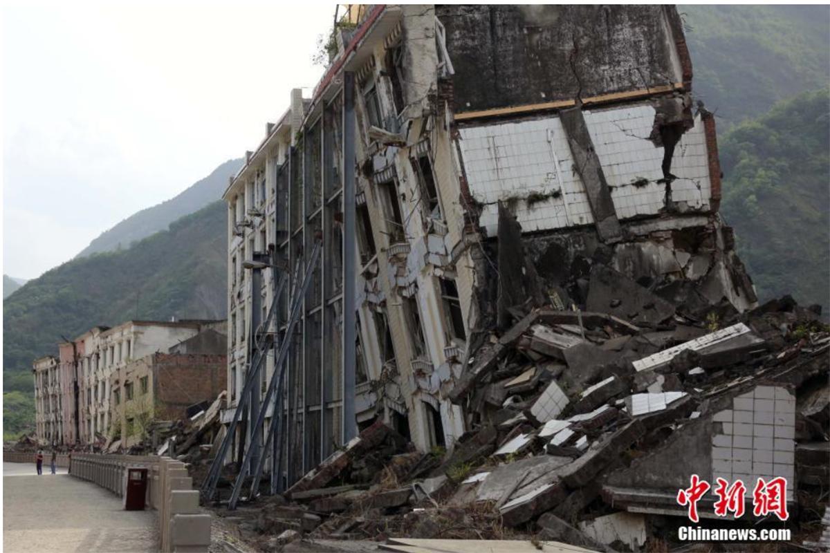 北川地震遗址图片