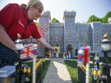 英国哈里王子婚礼乐高模型展出 8人耗时592小时建成