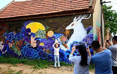 潍坊现涂鸦村 100多名艺术家耗时一月用艺术改变乡村