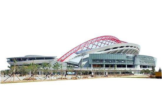 淄博市体育中心再添亮色 两处少儿活动设施建成投入使用