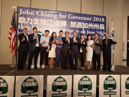 加州州长候选人江俊辉获媒体背书 鼓励亚裔投票