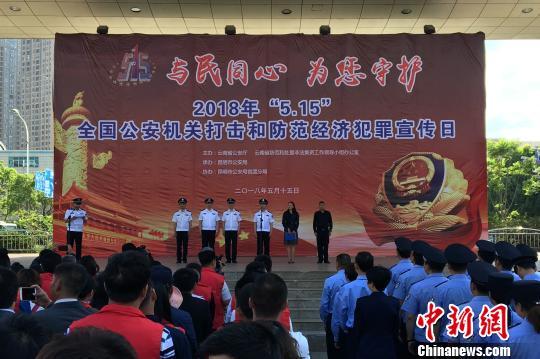 云南去年破获经济犯罪案件7215起 挽回经济损失17亿