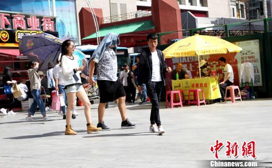 青海省多地出现高温天气 西宁气温突破历史同期极值