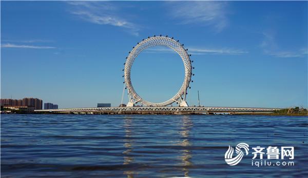 """记者实地体验世界最大无轴式摩天轮""""渤海之眼"""" 16日正式投用"""