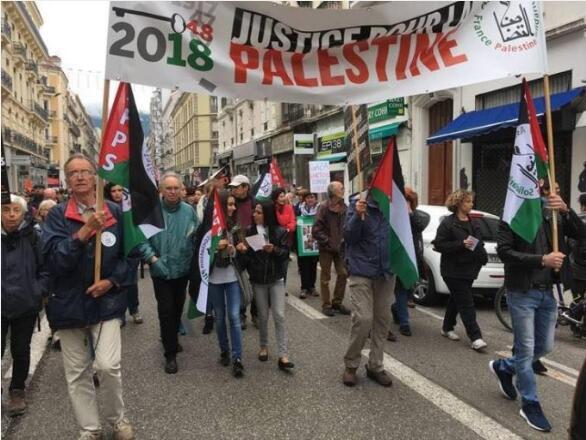加沙地带冲突:法国多个城市发生游行 支持巴勒斯坦人