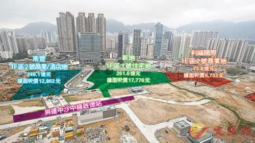 """251.61亿港元拍出 香港史上""""总价地王""""诞生"""