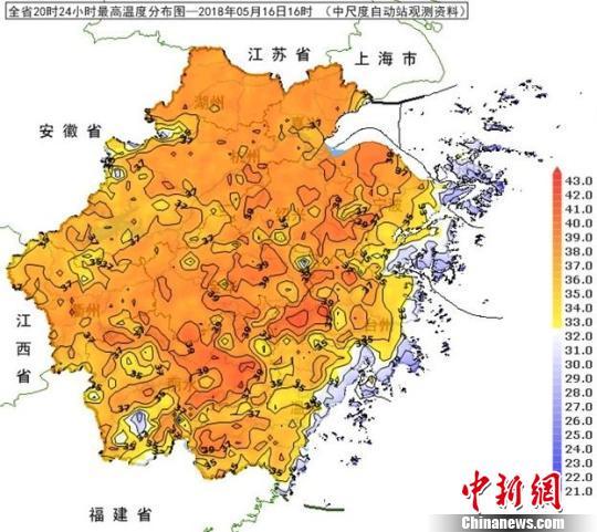 """40℃罕见高温""""炙烤""""浙江 高温范围为历史5月之最"""