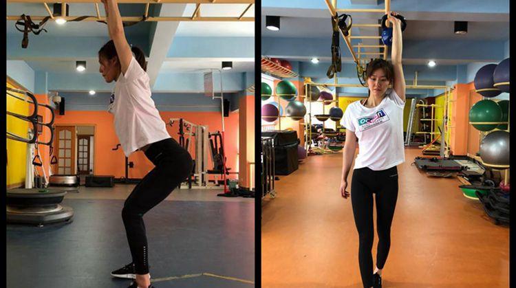 越努力越美丽!泳坛女神刘湘晒训练照 长腿迷人