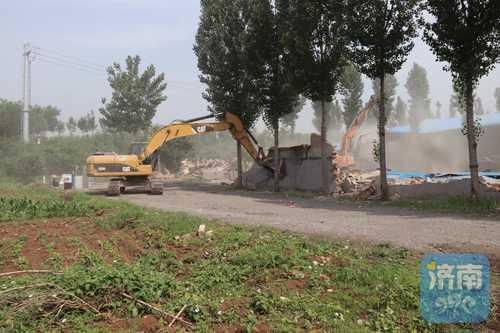 14万平方米!济南单体面积最大的违建群开拆