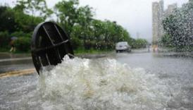 淄博阳光名筑小区未设计雨水管道 一下大雨就倒灌