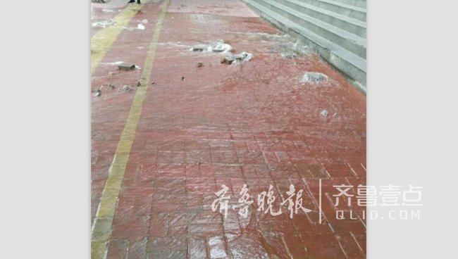 """枣庄市中区银行门口""""喷水""""市民直呼太可惜了"""