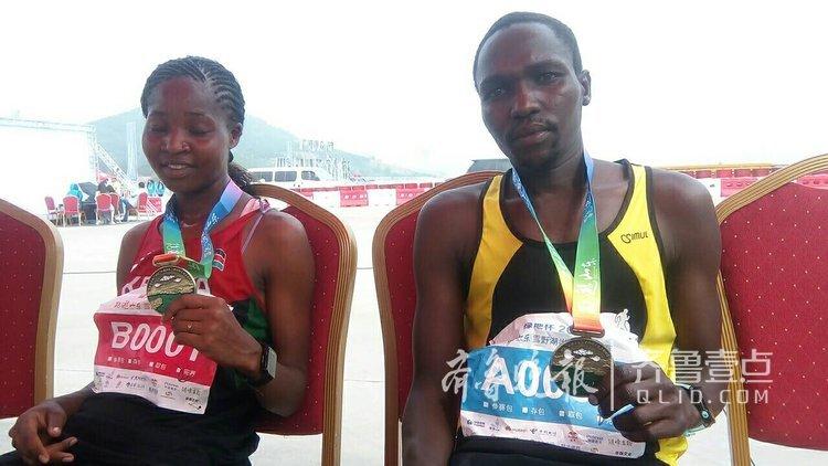 雪野湖马拉松赛,肯尼亚21岁小伙夺第一