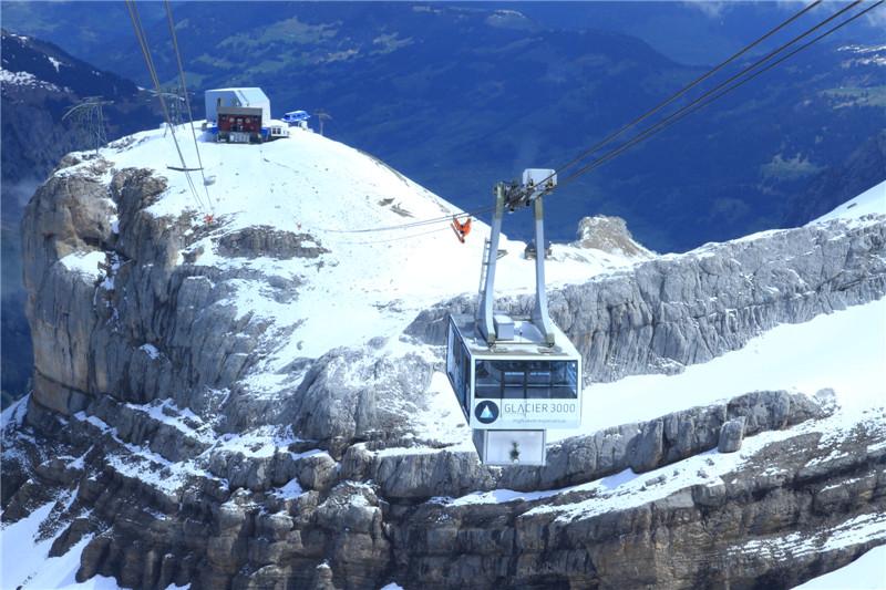 74、由山下一千米转乘两次缆车,15分钟升至三千米的冰川观景平台