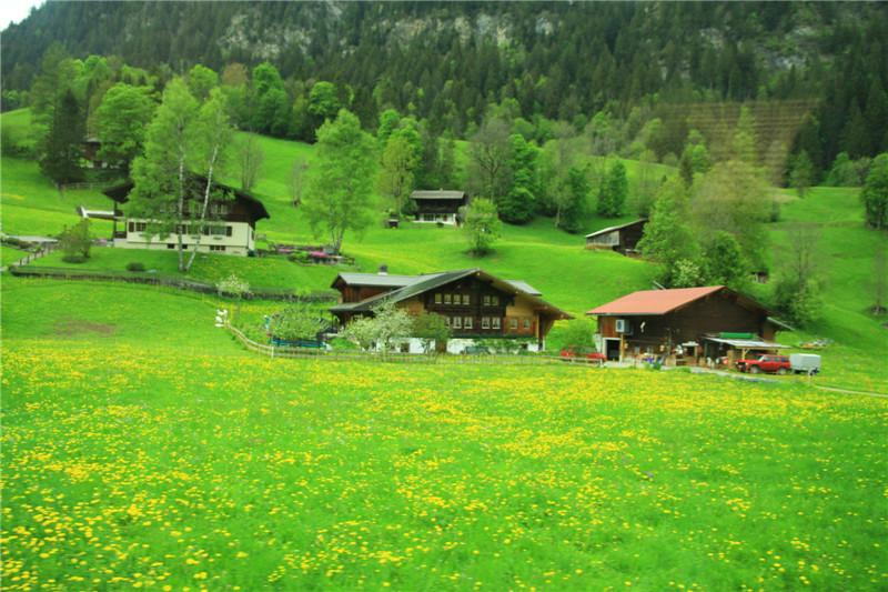 77、阿尔卑斯山沿途风光