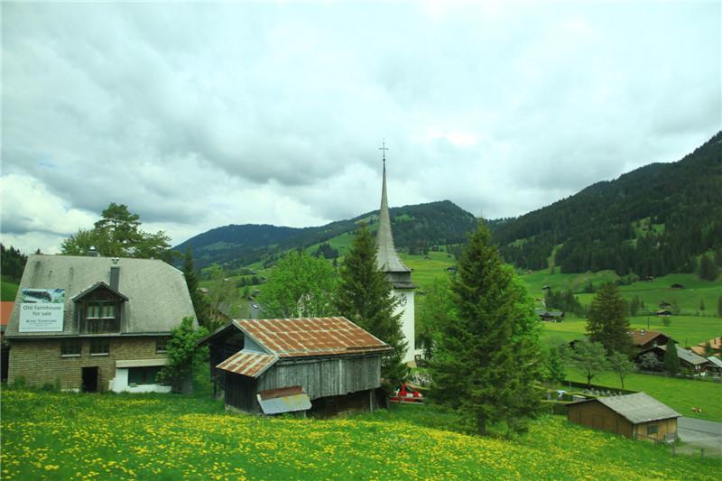 76、阿尔卑斯山沿途风光