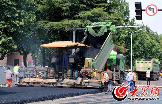 菏泽中华路改造阶段性完工 31日实现双向四车道通车