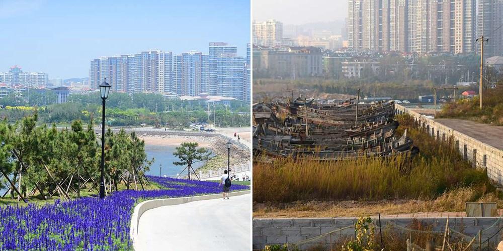 """青岛昔日""""地王""""荒废10年 如今变身生态绿岛"""