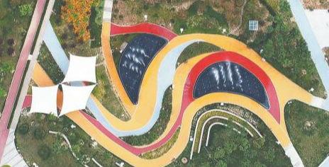 昔日采石山如今换新颜 淄博高新区青龙山公园今起正式开放