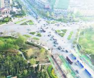 淄博柳泉路部分路段双向八车道开通