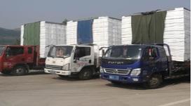 为降低成本 货车司机加装10米长托盘运输途径沂源被查