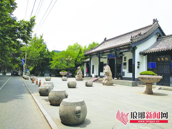 临沂市洗砚池街:挖掘书法特色 打造古文化街