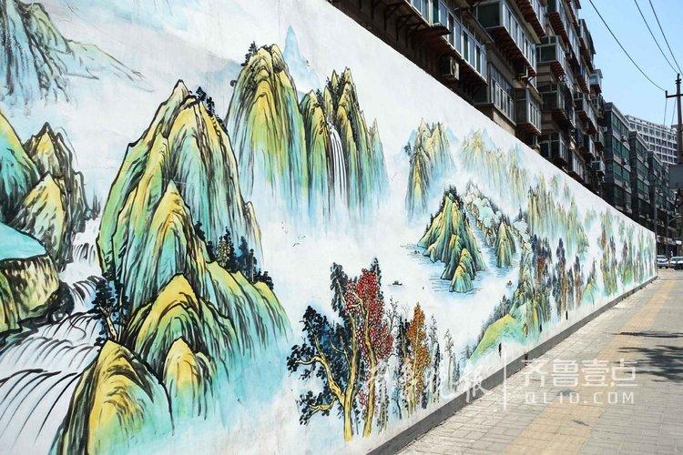 """外墙绘满国画书法,济南这条街""""古典范"""""""