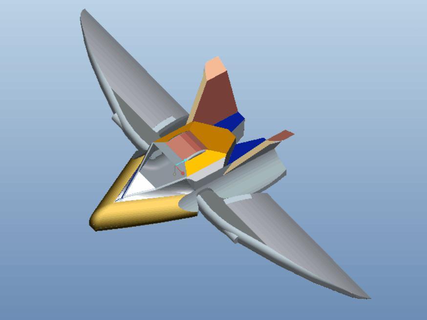 编号:Z37 参赛队:山东交通学院-奇迹队 创意题目:多用途组合式飞行器 创意简述:通过在原有基础上的气动布局上进行局部的改变,使得原有的气动布局改变以适应不同飞行要求下的飞行,并且对发动机进行改进,以配合飞行器气动布局改变所带来的飞行动力的短时间缺失。总体来说,通过改变飞行器的整体结构使得原有的飞行器达到更高的性能和更高的可塑性,以及更高的实战性能。
