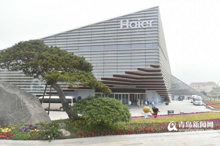 上合组织青岛峰会新闻中心展现青岛元素 精彩科技抢眼