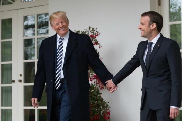 """盟友要和美国闹掰? 马克龙特朗普推特上""""互喷"""""""