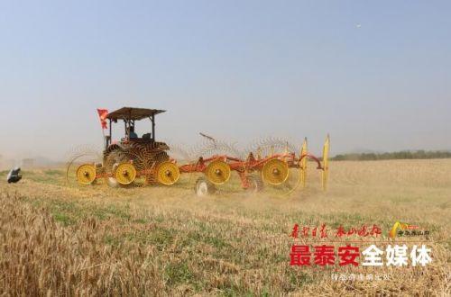 """泰安""""三夏""""农机新技术演示会举行"""