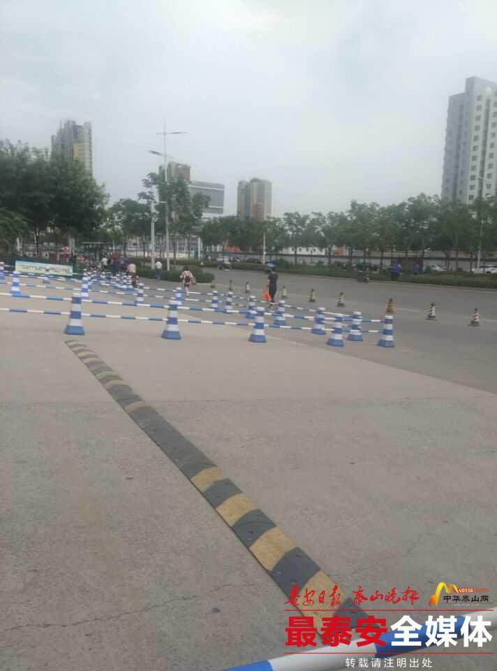 遗憾!泰安长城中学考点一女考生因迟到没能进考场