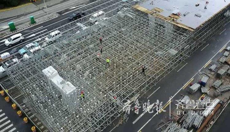 实拍!济南北园高架路西延工程最新进展