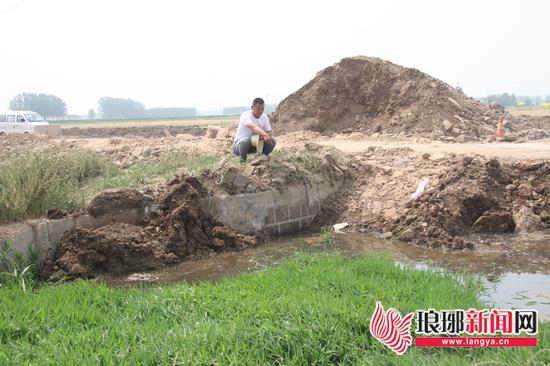 临沂:排水渠被堵百亩小麦被泡 已疏通正查找原因