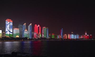 揭秘:惊艳世界的浮山湾灯光秀是如何炼成的(图)