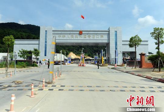 中越边境广西宁明爱店公路口岸对外开放通过国家验收